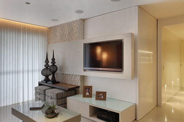 Rack E Painel Para Sala Pequena ~ Arquiteta Leila Dionizios  SALA DE TV  Pinterest  TVs