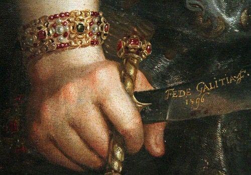 Fede Galizia, Giuditta con la testa di Oloferne (1596), Ringling #Museum of #Art, #Sarasota, #Florida - #dettaglio