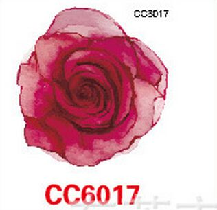 Mini Body Art waterproof temporary tattoos for women red rose flower design flash tattoo sticker Free Shipping CC6017