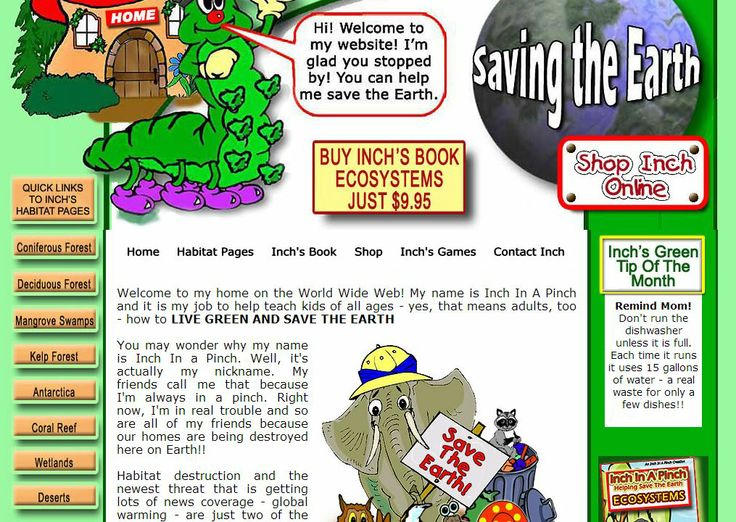 Biomes and Sustainable Earth Site, including information on endangered species