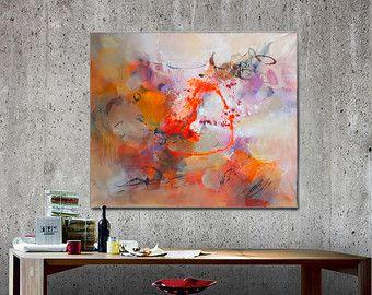Grande dipinto su tela pittura astratta moderna di di GabiGerArt