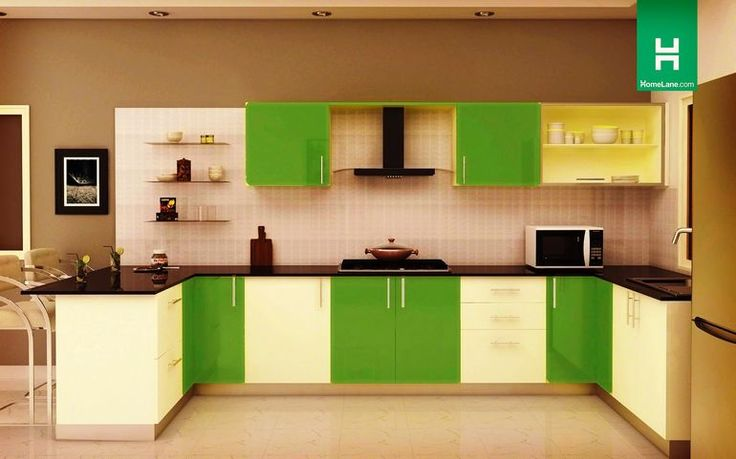 Buy Condor Retro U Shaped Kitchen (with Breakfast Counter) Online    HomeLane India