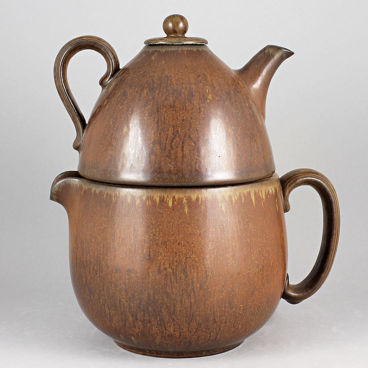 Gunnar Nylund (1940s) Marvelous Brown Double Teapot