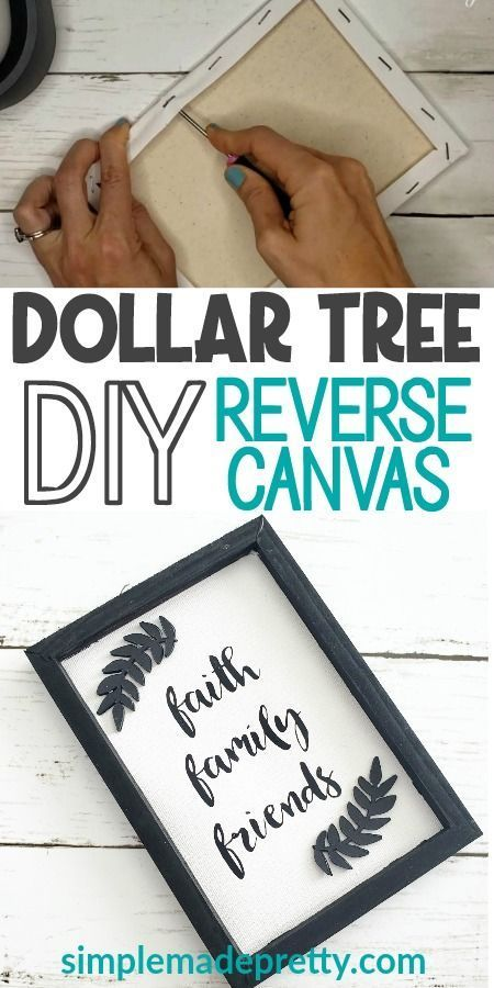 DIY Reverse Canvas Dollar Tree Sign – #Canvas #DIY…
