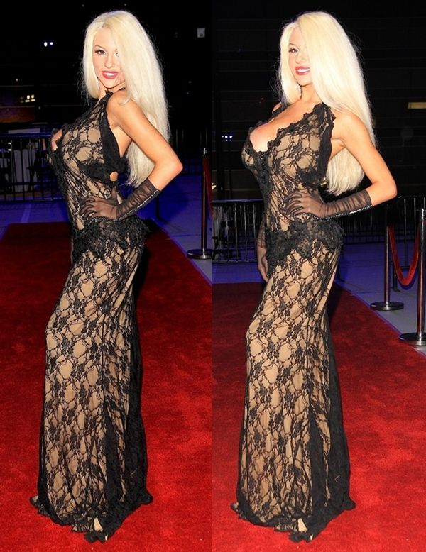 Courtney Stodden In Racy Marika Soderlund Robison Evening