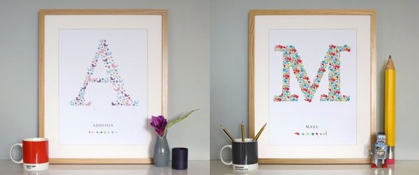 One Little Dicky Bird – where birth announcement prints get personal