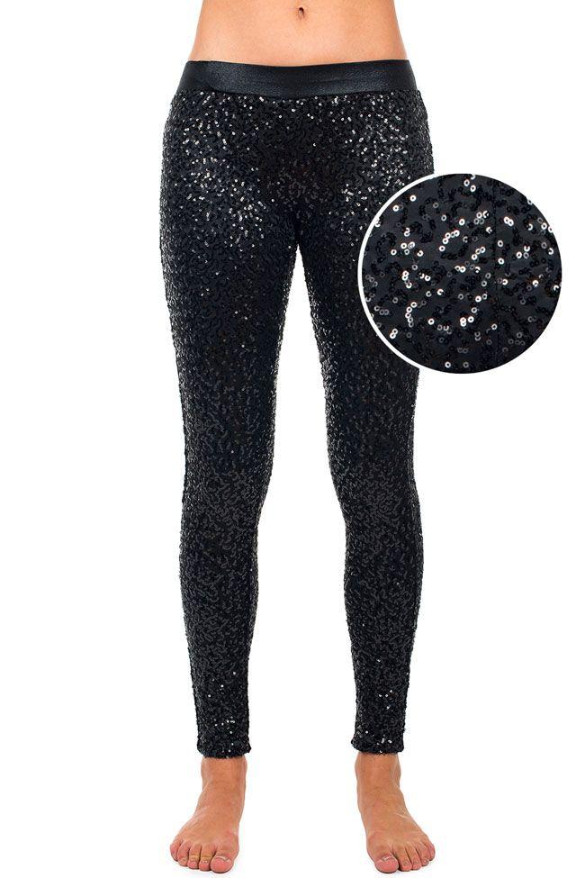 how to wear sequin leggings