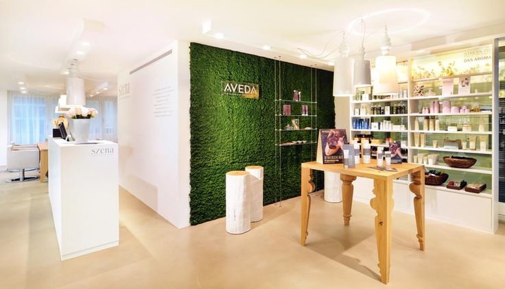 Another fresh #design of a modern hair salon in Zurich combining wood and a modern #seamless floor by us.