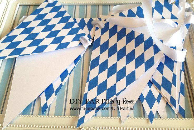 Table bunting - Oktoberfest.  Find us on Facebook: www.facebook.com/diyparties