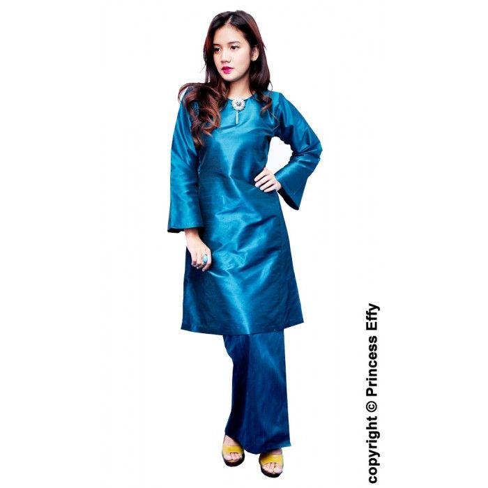 Baju Kurung Ramadhani Thai Silk Kebaya Baju Kurung