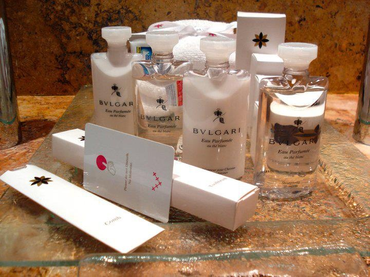 Reizen met Pegase is reizen in stijl !  In Hotel Excellence Playa Mujeres vind je in de badkamer producten van Bulgari.  Waar vond jij al eens verrassende luxeproducten in je kamer?
