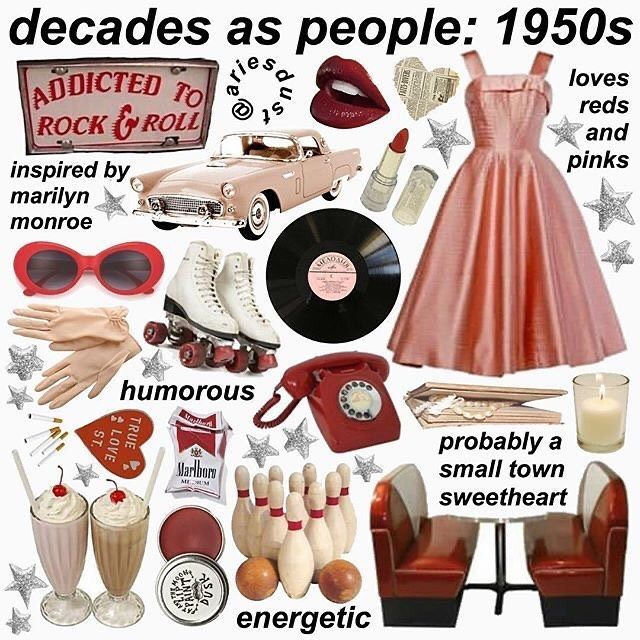 My Favorite Decades As People Part 2 Decadesaspeople Fonts Niche Meme Memes Nichememes N Mood Board Fashion Aesthetic Clothes Aesthetic Memes