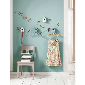 Wall Pops - Beyond the Rack. Like the bird houses on the wall with the bird murals...perhaps in my pet bird's area?