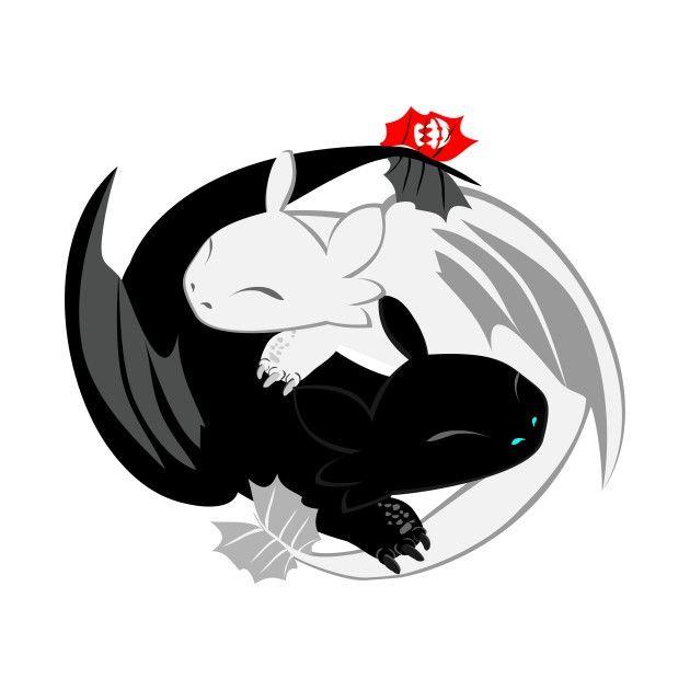 How To Train Your Dragon Yin Yang Dibujos Dibujos Kawaii Dragones