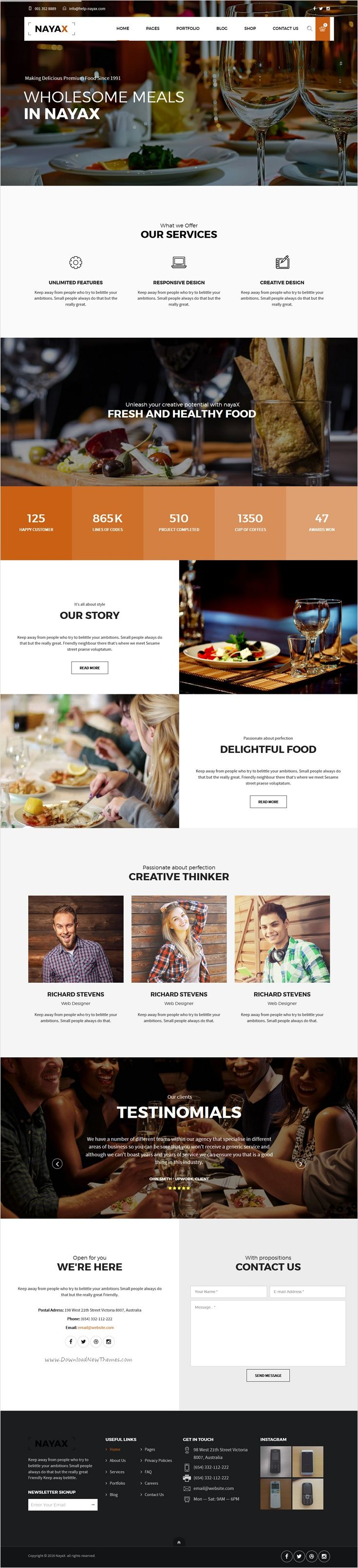 Nayax is beautifully design 12 in 1 responsive #WordPress theme for multipurpose #food #cafe and restaurant website download now➩ https://themeforest.net/item/nayax-creative-modern-multipurpose/16771207?ref=Datasata