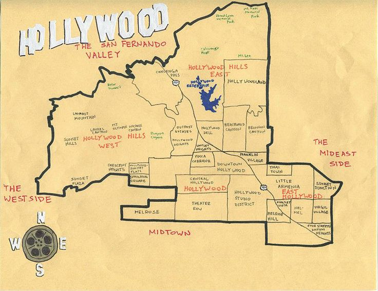 Handmade Maps Of Los Angeles By Pendersleigh And Sons
