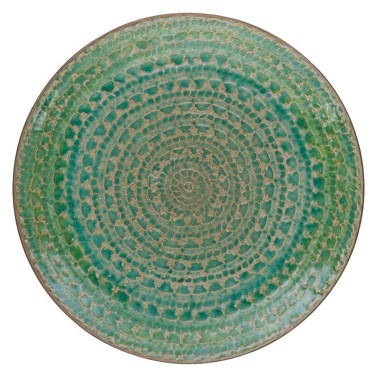 SINTRA Green side plate D21cm | Buy now at Habitat UK