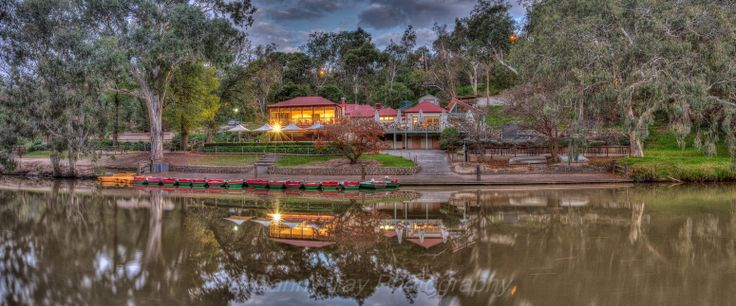 Studley Park Boathouse at night