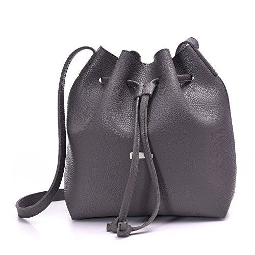 New Trending Make Up Bags: Drawstring Bucket Bags 2 Pieces Set, Artmis Women Small Cross-body Purses PU Leather(gray). Drawstring Bucket Bags 2 Pieces Set, Artmis Women Small Cross-body Purses PU Leather(gray)  Special Offer: $21.99  433 Reviews Material: Soft PU leather Color:Black,Gray,Blue,Khaki,Red wine Have 5 colors,all kind of colors are beautiful and gorgeous,you can choose any color you...