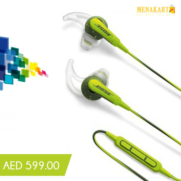 Bose SoundSport In-Ear headphones Apple devices, Green #earphone #Bose #earbuds #music #sound #sportearphone #online #shopping #menakart