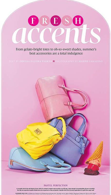 globe and mail june 21 2014 joe michael 2 #icecream #popsicle  #summer #fresh #accessories #sunglasses #shoes  #necklaces #pastels