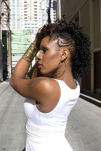 natural hair mohawk braided to the side | Braided Mohawk Hairstyles | Vissa Studios