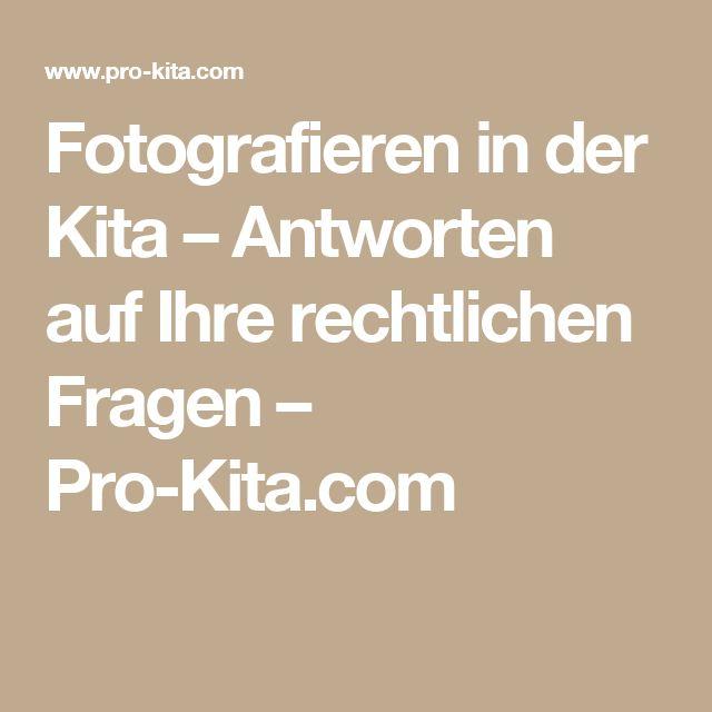 Fotografieren in der Kita – Antworten auf Ihre rechtlichen Fragen – Pro-Kita.com