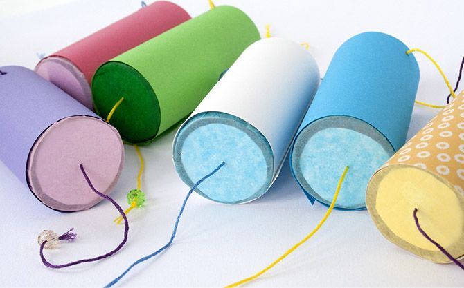handmade confetti poppers from tp rolls