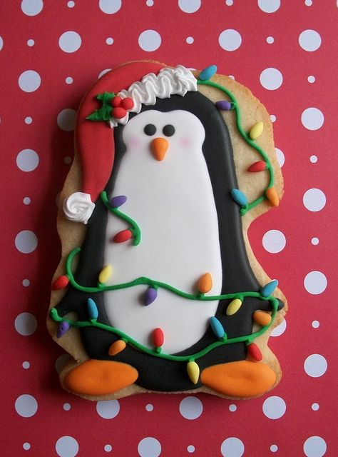 Penguin Christmas Cookie