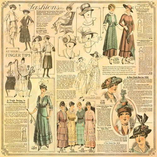"""""""La Gazette"""" front page of our new collection A Ladies' Diary. In stores in June! #graphic45"""