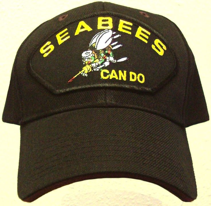 PATCH U.S. NAVY USN NAVAL SEABEES CAN DO CONSTRUCTION BATTALION CB TEAM CAP HAT #PREMIUMHATS #BallCap