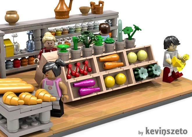 lego friends grocery store instructions