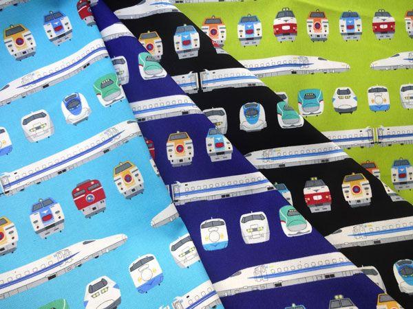 ▲綿(コットン) - 商品詳細 オックスプリント 電車 110cm巾/生地の専門店 布もよう