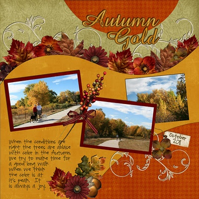 Autumn scrapbook layout