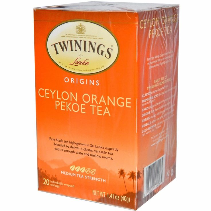 TWININGS: Origins, Ceylon Orange Pekoe Tea, 20 Tea Bags, 1.41 oz