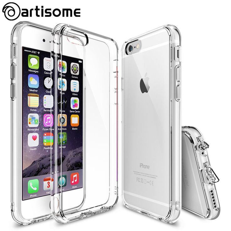 6 6S Case For iPhone 6 6S Plus Phone Cases Hybrid Clear Acrylic + Silicone TPU Coque For iPhone 6S 6 Plus Cover Case ARTISOME