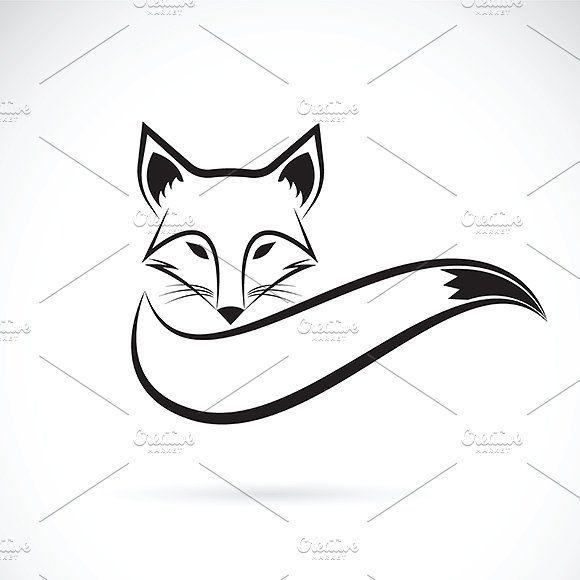 Vektor eines Fox-Designs von yod67 auf Creative Market – #creativemarket #design #Fox #vector