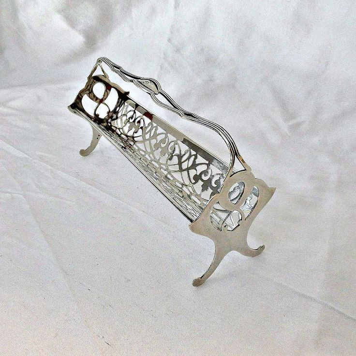 Art Nouveau Sterling Tray Domino Sugar Cube ca 1900 Whiting by SilverFoxAntiques on Etsy