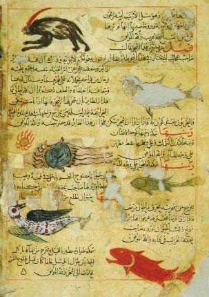 A 14th-century AD manuscript of Zakariya ibn Muhammad al-Qazwini's Aja'ib al-makhluqat (The Wonders of Creation). Or. 14140. Copyright © The British Library Board.