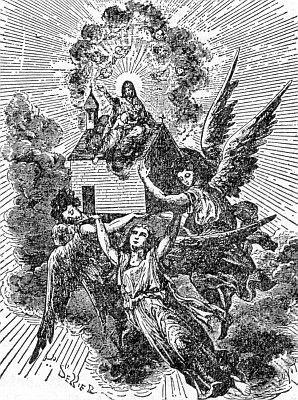New Catholic Dictionary illustration of the translation of the Holy House of Loreto