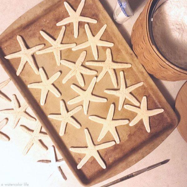 How to make handmade starfish with homemade salt dough - www.awatercolorlife.com