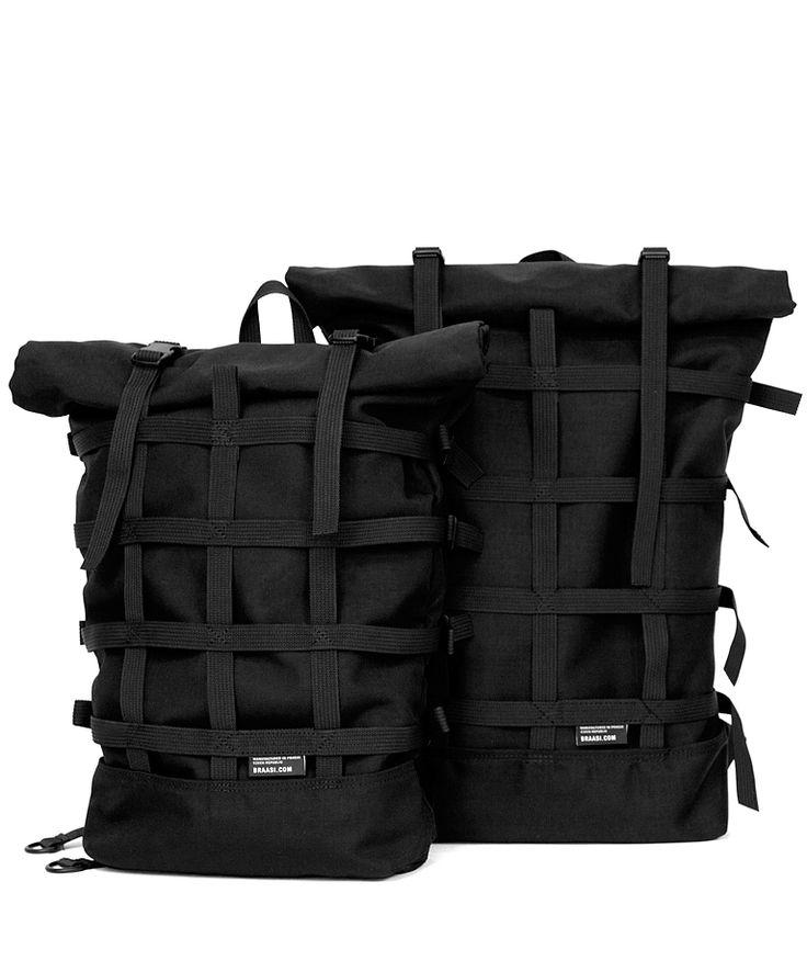 Braasi Industry Rolltop backpack BLACK by Šimon Brabec
