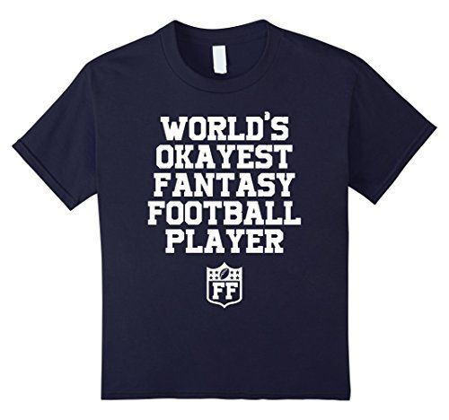 Kids World's Okayest Fantasy Football Player T-Shirt Funn…