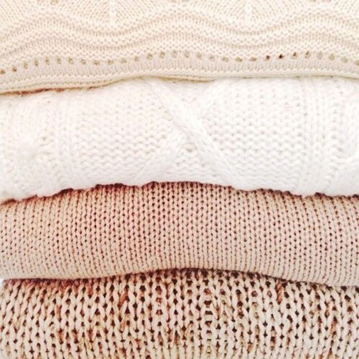 Want this pile of blush sweaters asap
