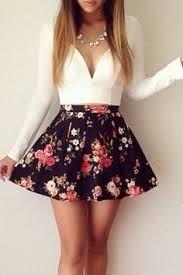 vestidos floreados cortos manga larga - Buscar con Google                                                                                                                                                                                 Más