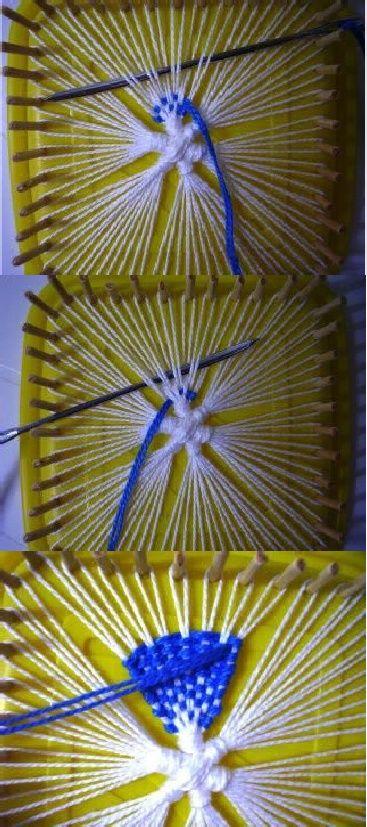 Tenerife weaving (?) on homemade peg loom PONTO TENERIFE FEITO EM TEAR DE MATERIAL RECICLÁVEL-1 | Scribd