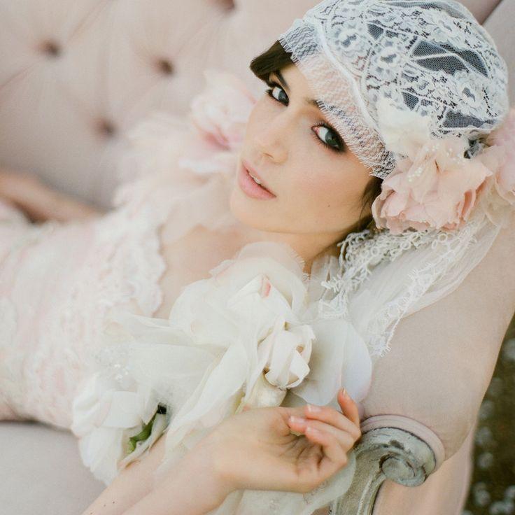 Origineel idee voor een sluier in 20's stijl #bruiloft #wedspiration #20's