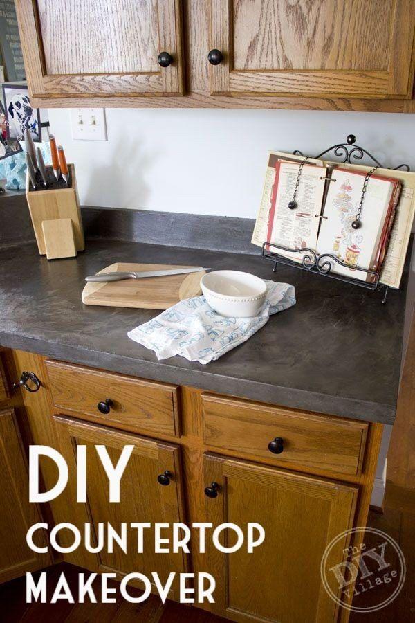 Terrific Diy Countertop 20 Easy Tutorials To Revamp Your Kitchen Download Free Architecture Designs Estepponolmadebymaigaardcom