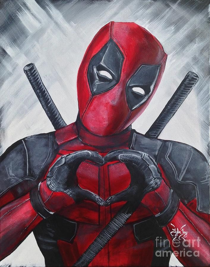 #Deadpool #Fan #Art. (Deadpool Painting - Deadpool Love) By: Tyler Haddox. ÅWESOMENESS!!!™ ÅÅÅ+