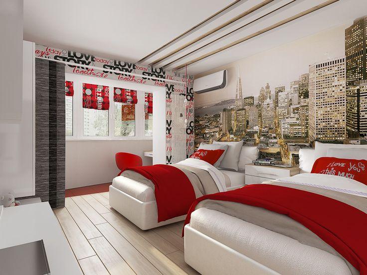 Молодежная спальня для девочек подростков - Лучший дизайн спальни | PINWIN - конкурсы для архитекторов, дизайнеров, декораторов